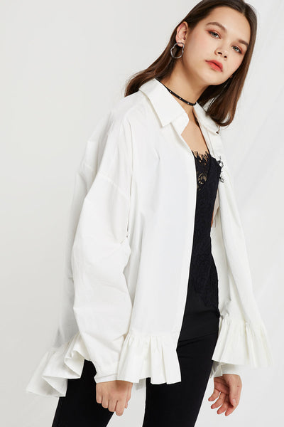 Teresa Pleated Hem Shirt