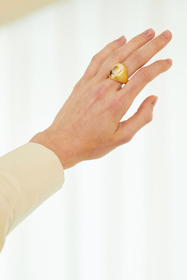 Statement Stud Ring