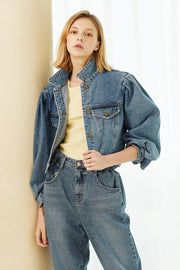 Camila Cropped Denim Jacket