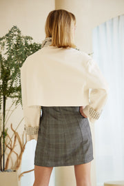 Ava Tweed Combo Cropped Jacket