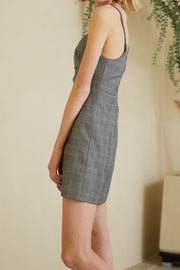Avery Plaid Pinafore Dress