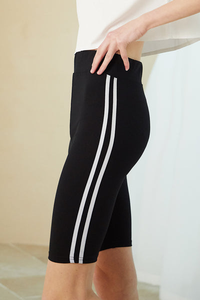 Vivian Side Stripe Biker Shorts