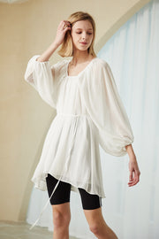 storets.com Hannah Sheer Chiffon Flowy Dress