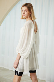 Hannah Sheer Chiffon Flowy Dress