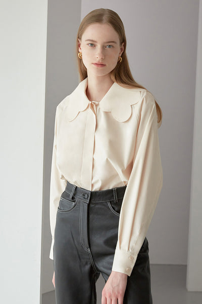 [NUVO10] scallop collar shirt