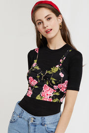 Abela Floral Bustier Top by STORETS