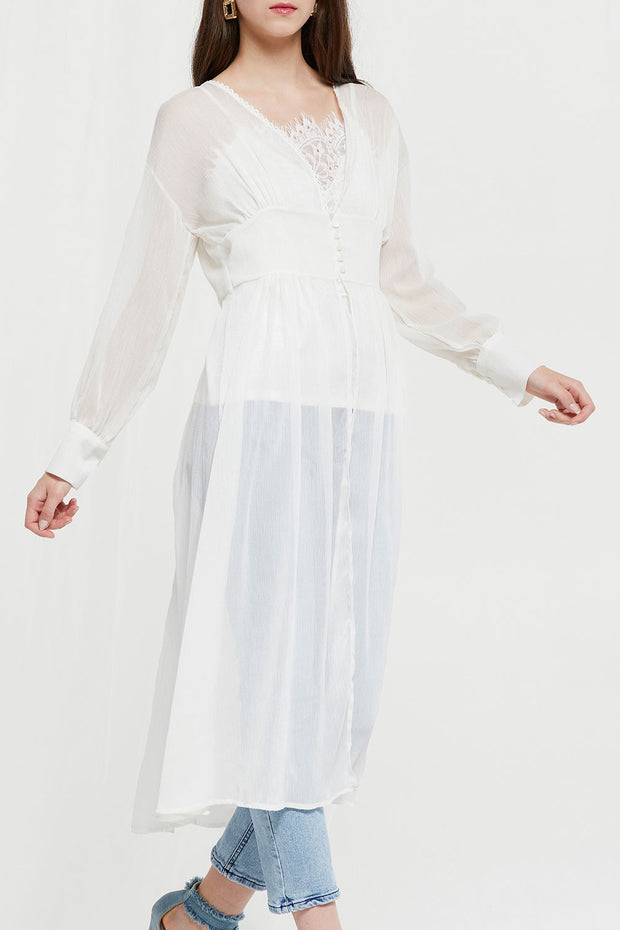 Luciana Sheer Robe Dress