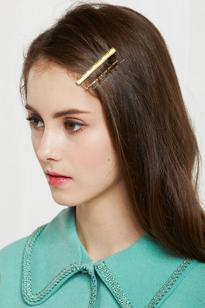 Glitter Resin Hairpin Set by STORETS