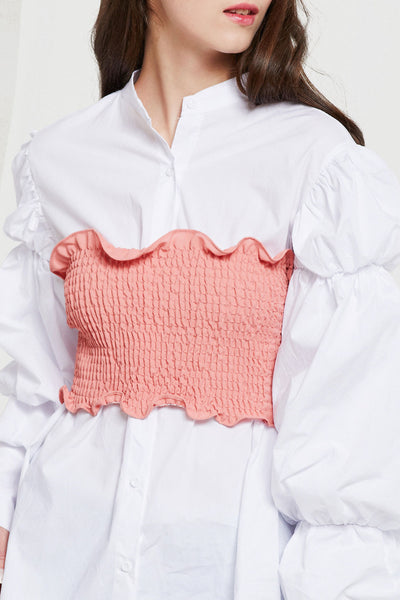 Jacoba Frill Smocked Tube Top by STORETS