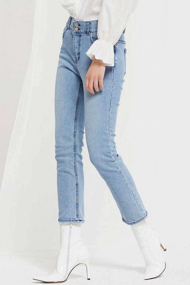Upton Two Buttons High Rise Jeans