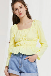 Handan Square Neck Crop Top by STORETS
