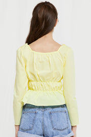 Handan Square Neck Crop Top