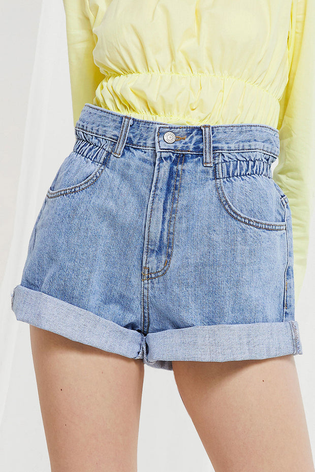 Valerie High Rise Denim Shorts by STORETS