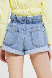 Valerie High Rise Denim Shorts
