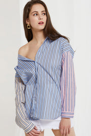 Bambi Colorblock Stripe Shirt by STORETS