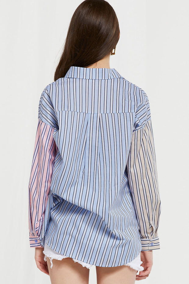 Bambi Colorblock Stripe Shirt