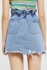 Lala Raw Edge Denim Skirt