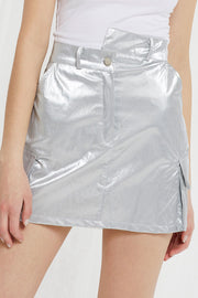 Kana Crinkle Metallic Skirt by STORETS