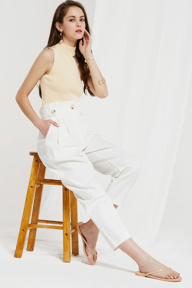 Ainsley High Waist Pegged Pants by STORETS