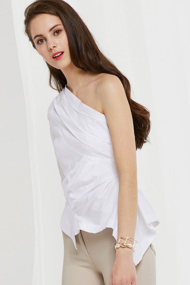 Melody Asymmetric Shoulder Top
