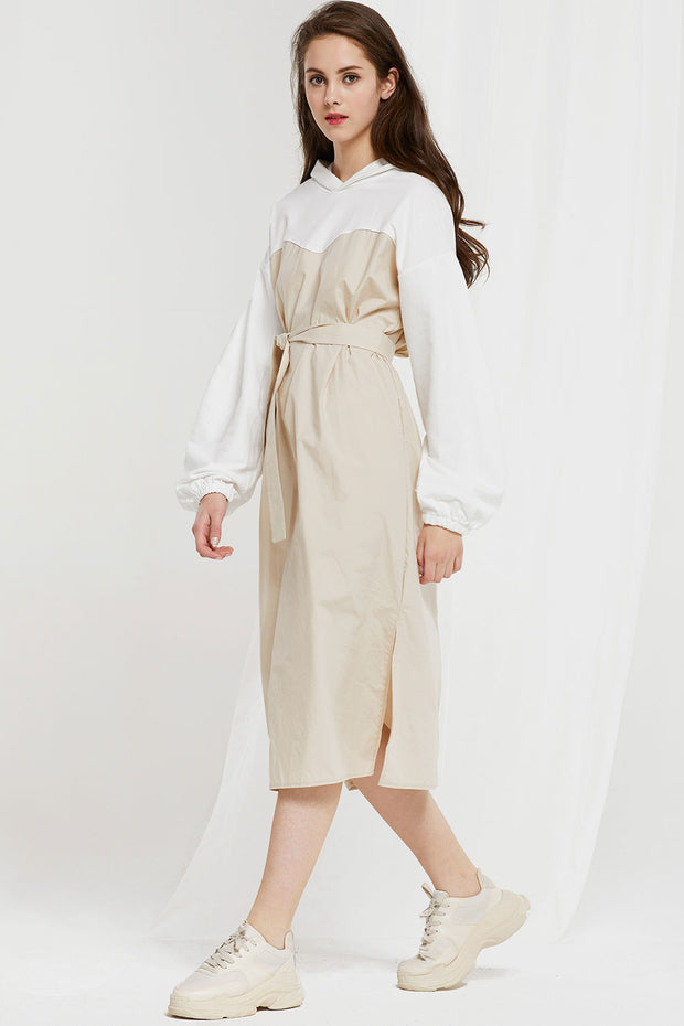 Thea Hooded Dress w/ Belt by STORETS