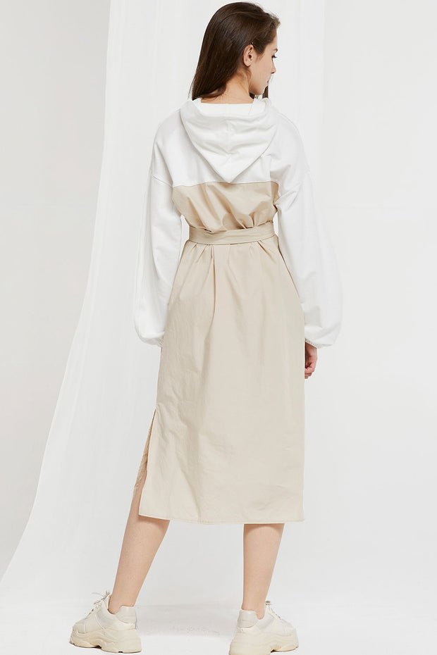 Thea Hooded Dress w/ Belt