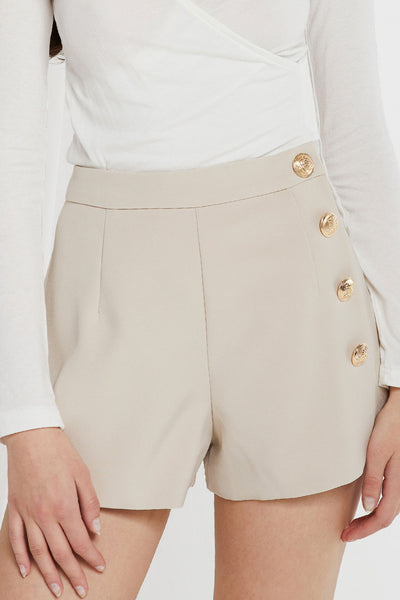 Wera Gold Button Shorts by STORETS