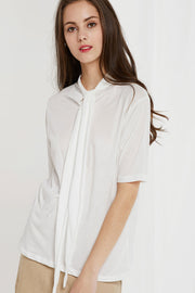 Banu Tie Collar Top