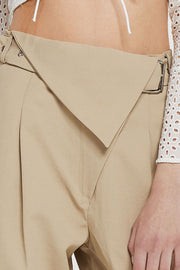 Sabrina Belted Pants w/ Fold-over Waist