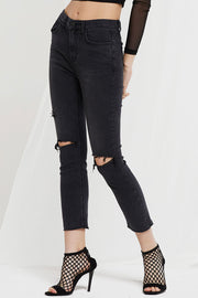 Nell Slash Knee Skinny Jeans