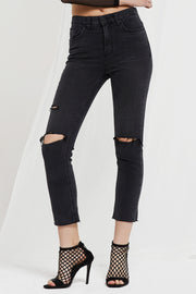 Nell Slash Knee Skinny Jeans by STORETS