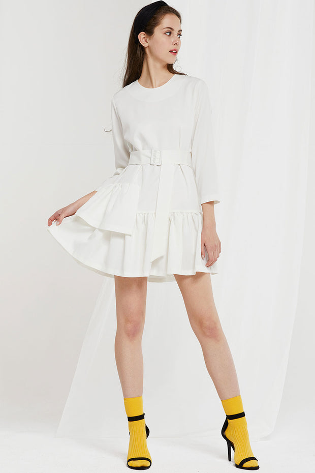 Itzel Flounce Dress w/ Belt