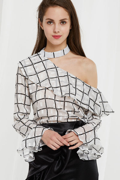 Yan See Through Choker Blouse by STORETS