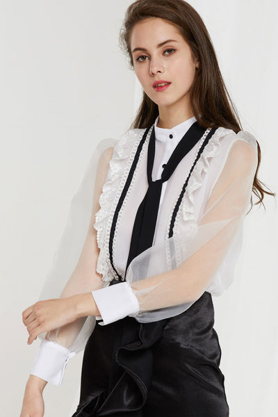 Nadia Gauze  See Through Blouse by STORETS