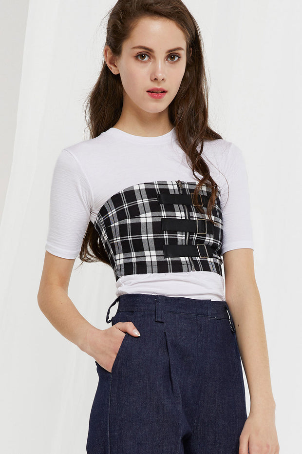 Payton Check Bandeau Top by STORETS