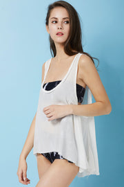 Heidi Floaty Tank Top Cover Up