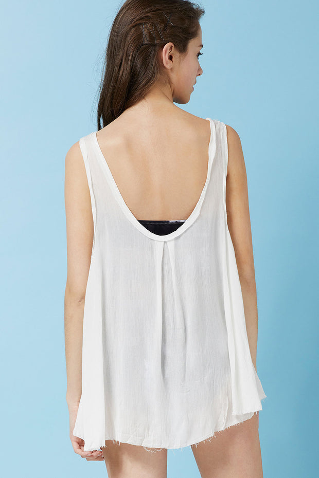storets.com Heidi Floaty Tank Top Cover Up