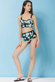 Dagny High Waist Floral Bikini Set