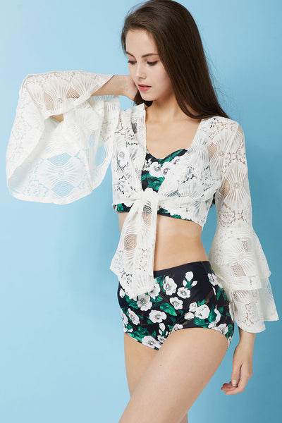 Padma Lace Shrug Cover Up by STORETS