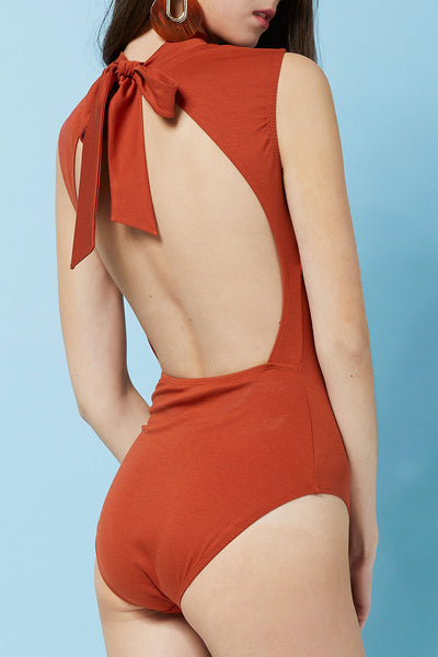 Adina Mock Neck Swimsuit