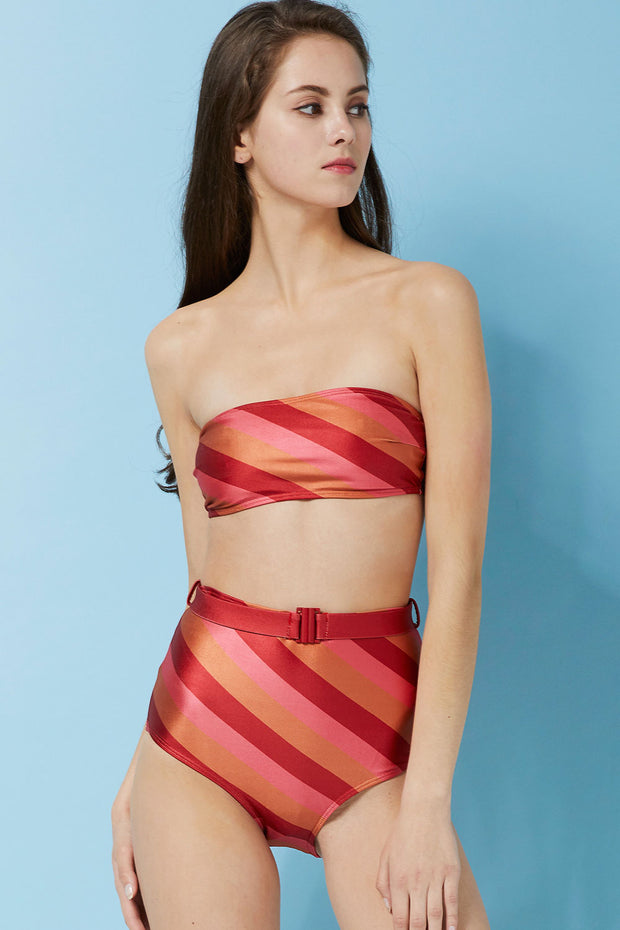 Aifric Diagonal Stripe Bikini Set by STORETS