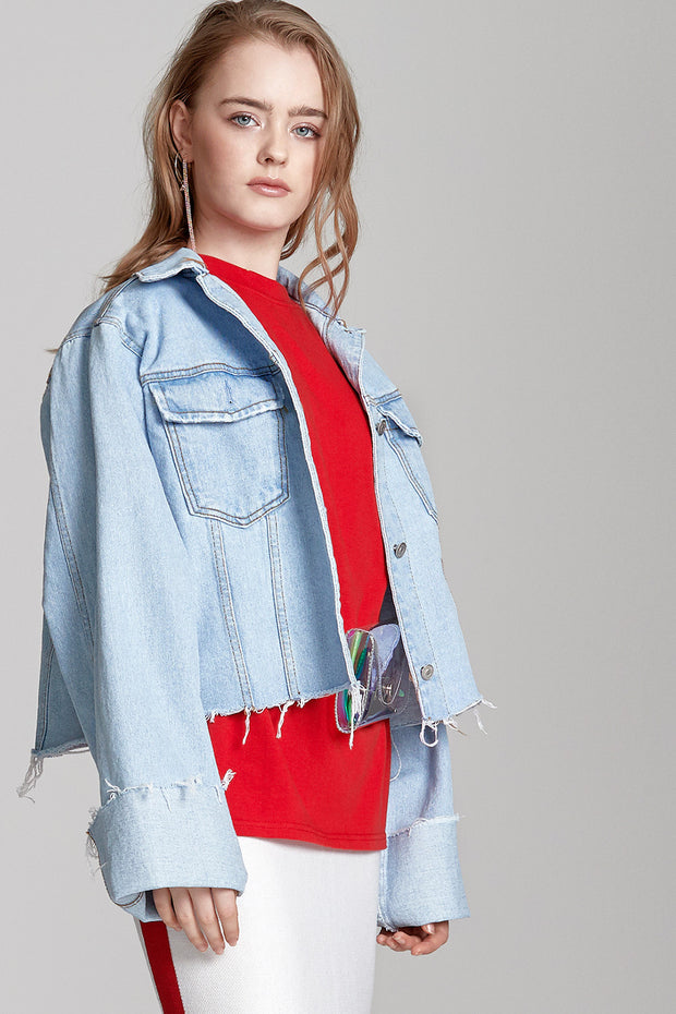 Allie Wide Sleeve Denim Jacket