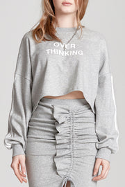 storets.com Over Thinking Cropped Sweatshirt