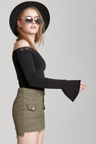 Marilyn Laced Off Shoulder Top
