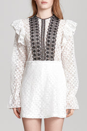 storets.com Emma Contrasting Lace Dress
