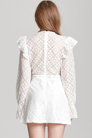 Emma Contrasting Lace Dress