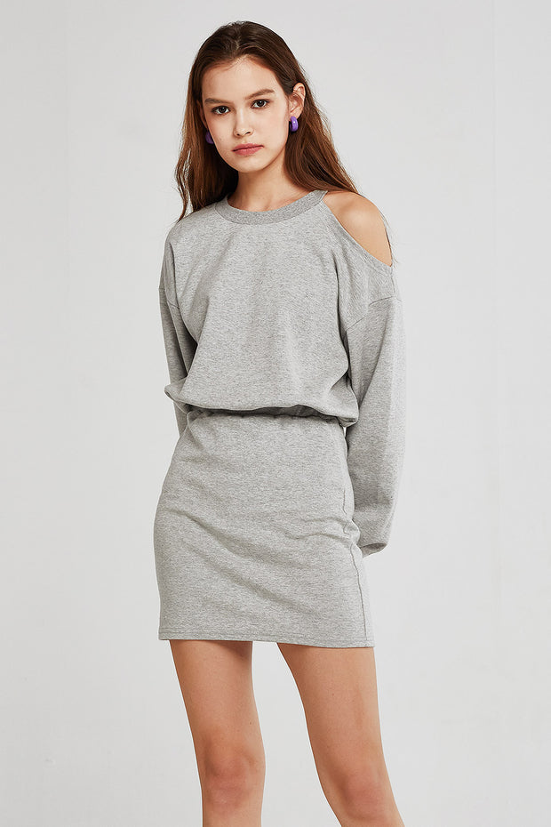 Jade Cold Shoulder Sweat Dress