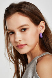 Pop Color Hoop Earrings