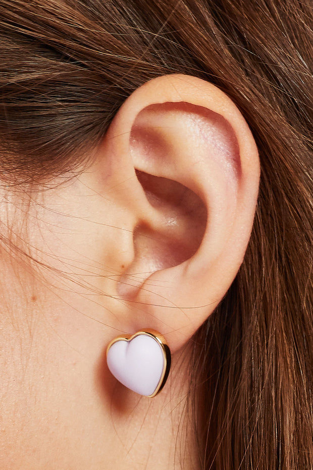 storets.com Golden Heart Stud Earrings