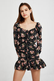 Alexandra Floral Ruched Dress